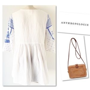 Anthropologie Tops - Anthropologie Mermaid Meadowbrook White Johnny Top